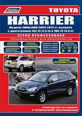 Toyota Harrier 2003-2012 г.в. Руководство по ремонту, эксплуатации и техническому обслуживанию. - артикул:3496