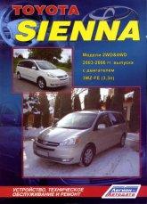 Toyota Sienna 2003-2006 г.в. Руководство по ремонту, эксплуатации и техническому обслуживанию. - артикул:2061