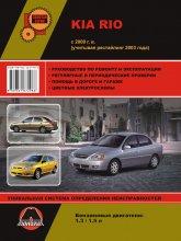 Kia Rio c 2000 г.в. и рестайлинг 2003 г. Руководство по ремонту, эксплуатации и техническому обслуживанию. - артикул:3964