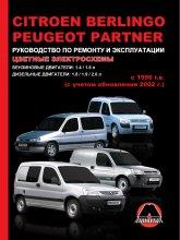 Citroen Berlingo и Peugeot Partner с 1996 г. и рестайлинг 2002 г. Руководство по ремонту, эксплуатации и техническому обслуживанию. - артикул:4276
