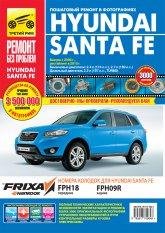 Hyundai Santa Fe с 2006 и 2010 г.в. Цветное издание руководства по ремонту, эксплуатации и техническому обслуживанию. - артикул:4002