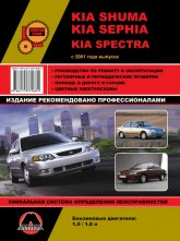 Kia Shuma, Kia Sephia, Kia Spectra с 2001 г.в. Руководство по ремонту, эксплуатации и техническому обслуживанию. - артикул:4420