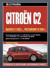 Citroen C2 с 2003 г.в. и рестайлинг 2005 г. Руководство по ремонту, эксплуатации и техническому обслуживанию. - артикул:3753