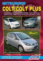 Mitsubishi Colt / Colt Plus с 2002 г.в. Руководство по ремонту, эксплуатации и техническому обслуживанию Mitsubishi Colt. - артикул:656