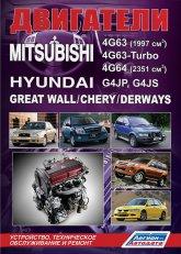 Двигатели Mitsubishi 4G63, 4G64, 4G63-Turbo и Hyundai G4JP, G4JS. Руководство по ремонту, эксплуатации и техническому обслуживанию. - артикул:4228