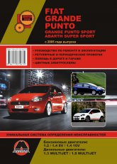 Fiat Grande Punto, Fiat Grande Punto Sport, Fiat Abarth Super Sport с 2005 г.в. Руководство по ремонту, эксплуатации и техническому обслуживанию. - артикул:4040