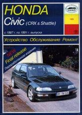 Honda Civic / CRX / Shuttle 1987-1991 г.в. Руководство по ремонту, эксплуатации и техническому обслуживанию. - артикул:1734