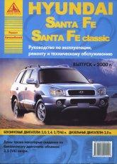 Hyundai Santa Fe и Hyundai Santa Fe Classic с 2000 г.в. Руководство по ремонту, эксплуатации и техническому обслуживанию. - артикул:1708