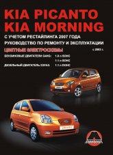 Kia Picanto и Kia Morning с 2003 г.в. Руководство по ремонту, эксплуатации и техническому обслуживанию. - артикул:3010