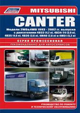 Mitsubishi Canter 1993-2002 г.в. Руководство по ремонту, эксплуатации и техническому обслуживанию. - артикул:1598
