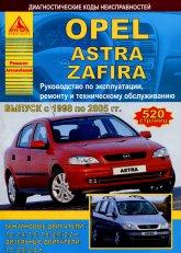 Opel Astra-G и Opel Zafira 1998-2005 г.в. Руководство по ремонту, эксплуатации и техническому обслуживанию. - артикул:2219